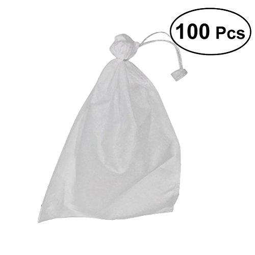 Galleria fotografica OUNONA 100 pz Sacchi per piante Biodegradabili non tessuti Frutta vivaio Borse Pianta Grow Borse Tessuto Piantine Vasi 200mm x 300mm sacchetti per Giardino