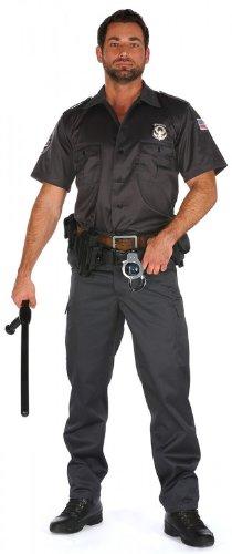 m Uniform Chicago Police schwarz kurzarm, Hosengröße:XL - W36;Größe:XL (Kostüme Chicago)