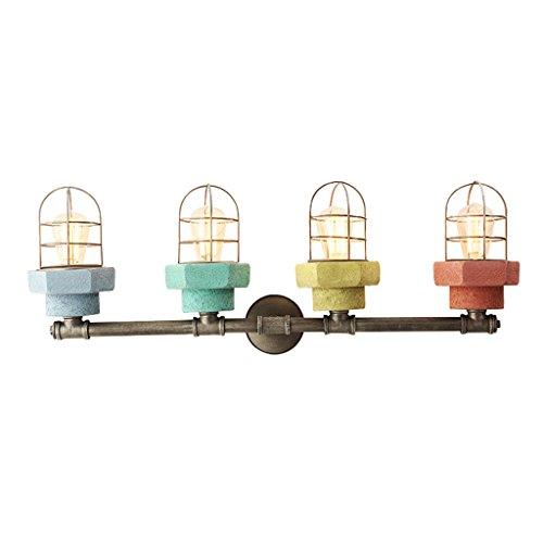 Bar In 33 Led-licht (Bett Wandlampe Industrieller Wind Spiegellicht Super hell Ganglichter Farbe Zement Wandleuchten Edison-Lampe Balkon Garten Retro europäisch amerikanisch Kreativ Sicherheit Umweltschutz A+ ( Color : Blue ))