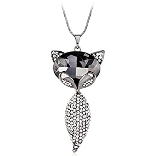 XIAOJING Popular Necklace ! New Alloy Women Necklace Metal Jewelry Bib Pendant Chain Necklace Gray
