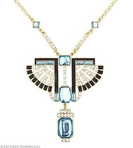 WIDMANN wdm03576?Collar Faraone dorado con brillantes y Gemme T, multicolor, talla única