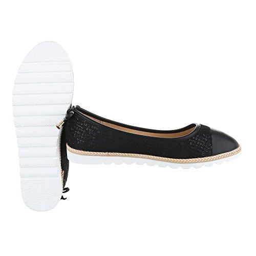 Ital-Design - Sneaker Donna Schwarz 6290-P