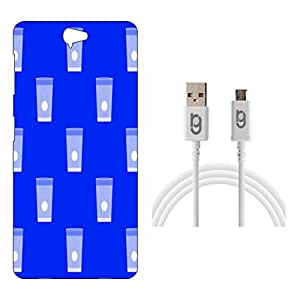 Designer Hard Back Case for HTC One A9 with 1.5m Micro USB Cable