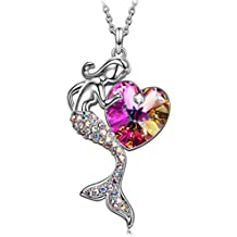 """SIVERY Fairytale """"Little Mermaid"""" Necklace for Women, with Crystals from Swarovski, Jewellery for Women, Gifts for Women"""