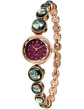 Time100 moderne Armbanduhr Damenuhr Quarzuhr Mädchenuhr Edelstahl #W40120L.02A