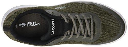 Lacoste Lt Spirit 317 1, Baskets Basses Homme Vert (DK KHK/BLK)