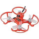 FPV Drohne mit Kamera EMAX BabyHawk PNP 85mm Mirco FPV Racer Drone Brushless (1104 5000kv Brushless Motor, Femto F3 Flight Controller, All-in-One Kamera, VTX 25MW CMOS, Bullet 6A BLHeli_S Plug-In ESC) Rot (Red)