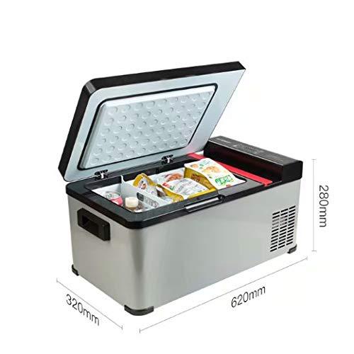 BLJ-car Compresor portátil Frigorífico, 12 V / 24 V - Gris/Negro, 17.3 litros de litros y Uso en el hogar62 * 32 * 28 cm