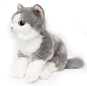 Waldkatze chat maine coon tigré *spezial peluche - 37 mm-gris-blanc