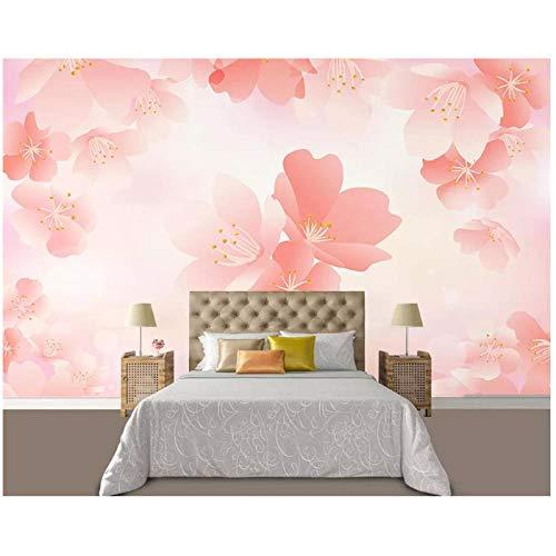 Benutzerdefinierte Tapete-Hauptdekoration-Fantasie Kirsche TV Hintergrund-Wand Wohnzimmer Schlafzimmer Wandbild-Tapete für Wände 3d-300 (B) x200cm (H) (9'2