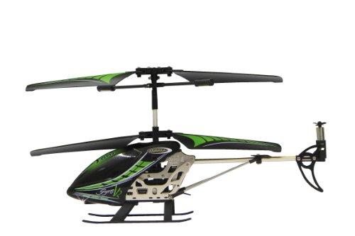 Jamara 038150 - Gyro V2 2,4G - Turbo, flexible Rotorblätter mit Winglets, robustes Aluchassis, Motorschutz bei blockierten Rotorblättern, welchselbarer LiPo-Akku, Licht ein / aus, Demomodus - 2