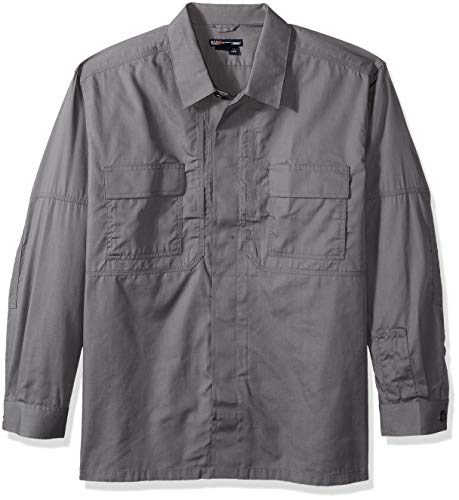 5.11 Tactical # 72054 Taclite TDU Long Sleeve Shirt XL Storm - Poly-baumwolle-utility Shirt