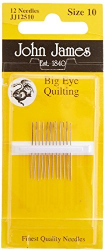 Big Eye Quilting Hand Needles-Size 10 12/Pkg by Notions - In Network -