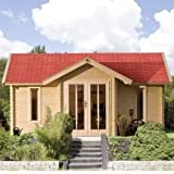 Karibu Gartenhaus Nordland Blockbohle 40 mm