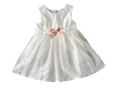 LCG Antonia Taufkleid Festkleid Blumenmädchenkleid Ivory-Weiß (80/86)