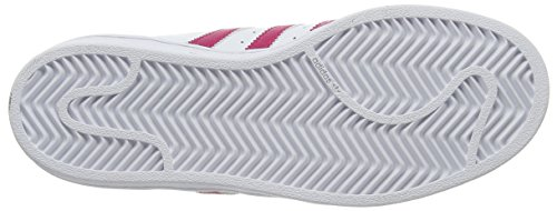 adidas Originals Superstar Foundation B23644, Mädchen Low-Top Sneaker, Weiß (Ftwr White/Bold Pink/Ftwr White), EU 38 2/3