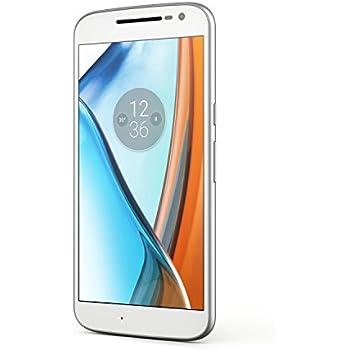 Lenovo Moto G4 Smartphone LTE, Fotocamera 13 MP, Schemo 5.5 pollici Full HD, Processore Octacore 1.5 GHz, 2 GB di RAM, 16 GB di Memoria Interna espandibile fino a 128 GB, Bianco [Italia]