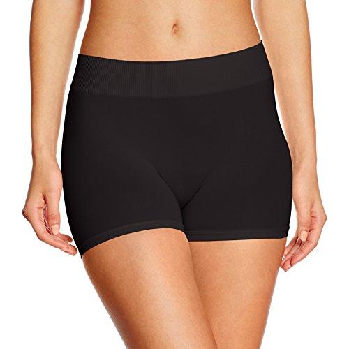 PIECES Damen Panties Pclondon Mini Shorts Noos, Schwarz (Black Black), 36 (Herstellergröße:S/M) (Damen Kleid Schwarz Hose)