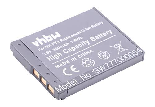 vhbw Li-Ion Akku 500mAh (3.6V) für Kamera Sony DSC-T1, DSC-T3, DSC-T3s, DSC-T5, DSC-T9, DSC-T10, DSC-T11 wie NP-FT1. T9-power-pack