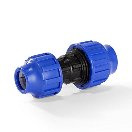 H2O-Flex PP-Fitting, Klemmverbinder - Kupplung Reduziert für PE-Rohr, 32-25 mm, DVGW (Pp-rohr)