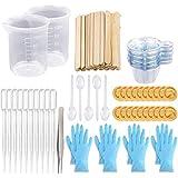 Tasses à mélanger Tasses en résine époxy avec bâtonnets Kit-2pcs Tasses à mesurer de 100 ml, réutilisable à mélanger jetables