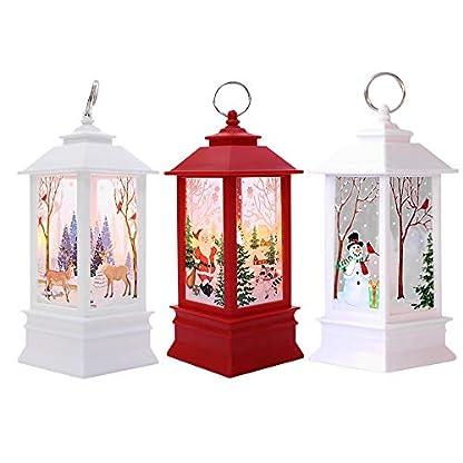 Logobeing 1 Pcs Luces Vela de Navidad Con Velas de Luz Led de Té Para la Decoración Navideña Luz Perfecto Para Decoración de Navidad Festival,Fiestas