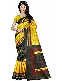 Trendz Style Taffeta Silk Polka & Bandhani Print Saree(TZ_1039_A)