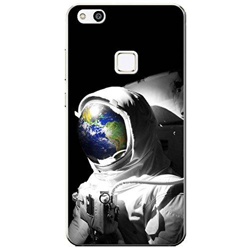 Astronautenanzug & Spiegelbild der Erde Hartschalenhülle Telefonhülle zum Aufstecken für Huawei P10 Lite