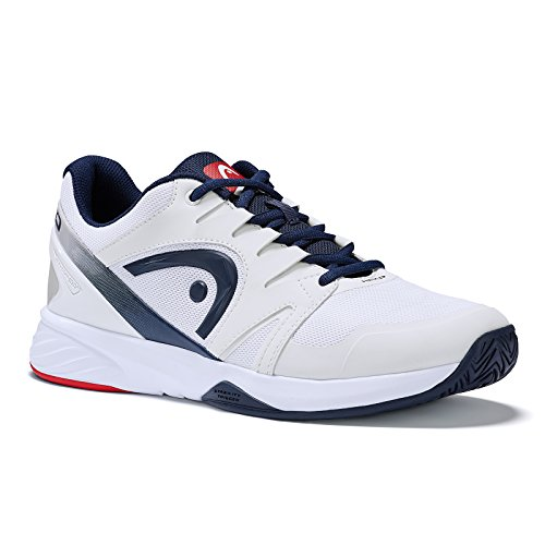 Head Sprint Team Mens 2.0, Scarpe da Tennis Unisex-Adulto, Bianco (White/Black Iris), 45 EU