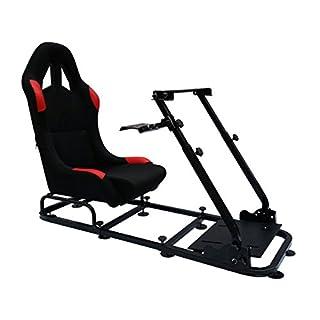 FK-Automotive Game Seat Spielsitz für PC und Spielekonsolen Stoff schwarz/rot