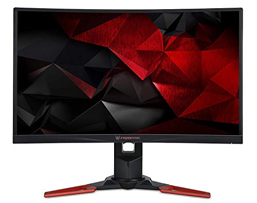 "Acer Predator Z271Tbmiphzx Monitor Gaming Curvo G-Sync da 27"", Display Full HD (1920x1080), 60 Hz, 16:9, 300 cd/m², 4 ms, HDMI, DP, USB 3.0, Audio Out, Speaker Integrati, Regolazione Altezza, Nero"
