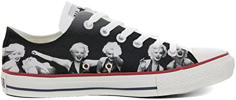 mys Converse All Star Low Customized Personalisiert Schuhe Unisex (Gedruckte Schuhe) Slim Marilyn