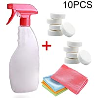 ZREAL Car Cleaning Tool Set Wipe Cloth Spray Bottle Concentrated Effervescent Tablet Home Glass Cleaner Specifications:Type:Car Windshield Glass Cleaning Tools Set Spray Bottle Material