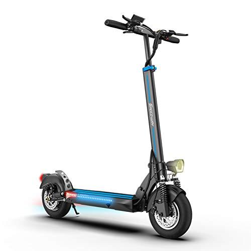 SmartGyro Xtreme Speed Way - Patinete Eléctrico de 600 W con 3 Marchas, Vel. 25 Km/h, Batería 13.000 mAh 48V, Doble Suspensión Reforzada,Tubeless, Frenos de Disco, LEDS, Muy Potente