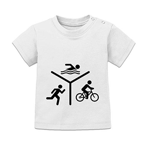 Shirtcity Triathlon Silhouette Logo Baby T-Shirt by