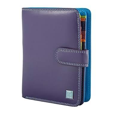 Portefeuille pour femme multicolore en cuir souple signé DUDU Violet