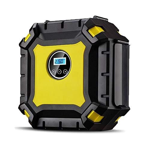 Gonfiatore di pneumatici automatico per pompa del compressore d'aria per pneumatici da 12 V CC 120 W per ruote di motocicli per auto (Color : Yellow)