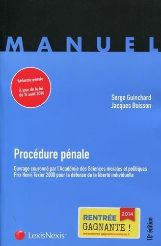Procdure pnale: Rforme pnale  jour de la loi du 15 aot 2014.