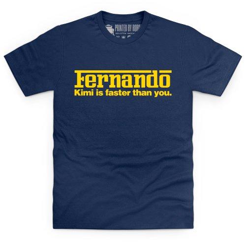 Kimi vs Fernando T-Shirt, Herren Dunkelblau