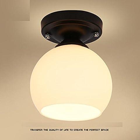 Larsure Vintage style industriel Lampe de Mur American retro tête simple lampe murale à LED lumière avant rétroviseur avec E27 Douille pour house, bar, restaurants, café, Club, décoration en forme de fleur
