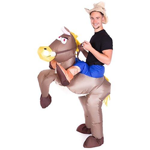 Hinchable Vaquero en caballo Adulto Disfraz