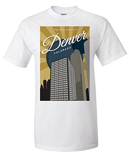 denver-colorado-vector-city-wells-fargo-center-premium-t-shirt