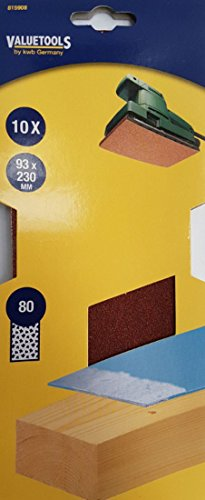 Schleifblätter 250 Stück 93x230mm K80 für Schwingschleifer Schleifpapier 815908