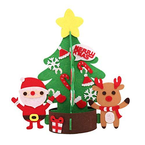 EMLIF Home Tischplatte Mini Weihnachtsbaum mit Rentier Schneemann Candy Cane Socken Deko Ornamente S