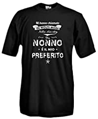 Idea Regalo - Settantallora - T-Shirt Maglietta J778 Nonno è Il Mio Preferito Taglia L