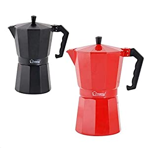 Induction Coffee Maker Induction Espresso Maker Stove Top Induction Cafetiere Classic Coffee Stove Top Espresso Maker 6 Cup, 9 Cup & 12 Cup
