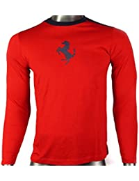 Ferrari - Camiseta de Manga Larga - para Hombre 1cdae6fcba8