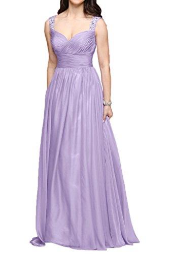 Victory Bridal - Robe - Trapèze - Femme Violet - Lavender