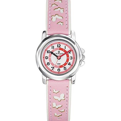 Certus 647587–Unisex Reloj–analógico cuarzo–Esfera blanca Correa de plástico rosa