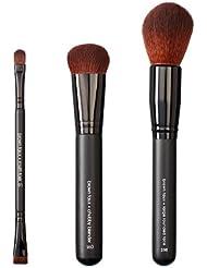 VEGAN LOVE Pack de 3 Pinceaux de Maquillage Multi Task + Chubby Blender + Large Rounded Face